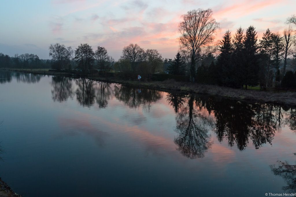 Sunset at river Havel