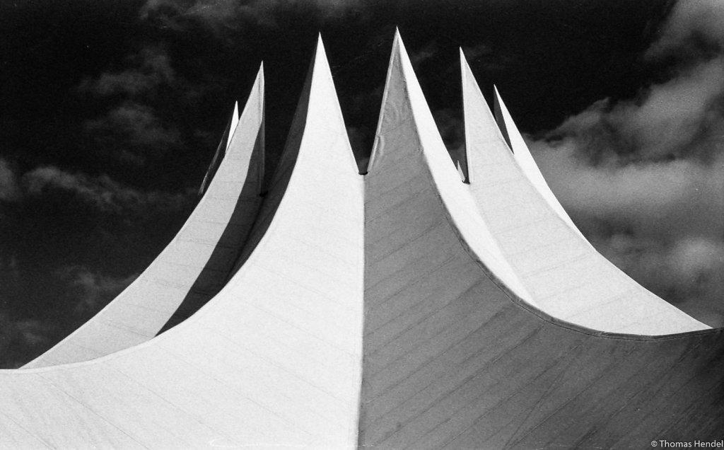 Concrete tent.