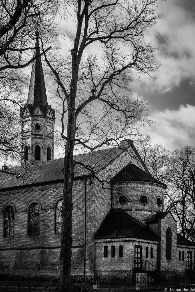 Brick chapel.