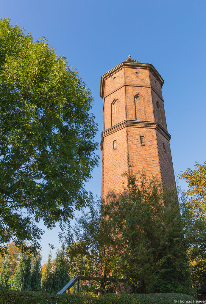 The water tower.