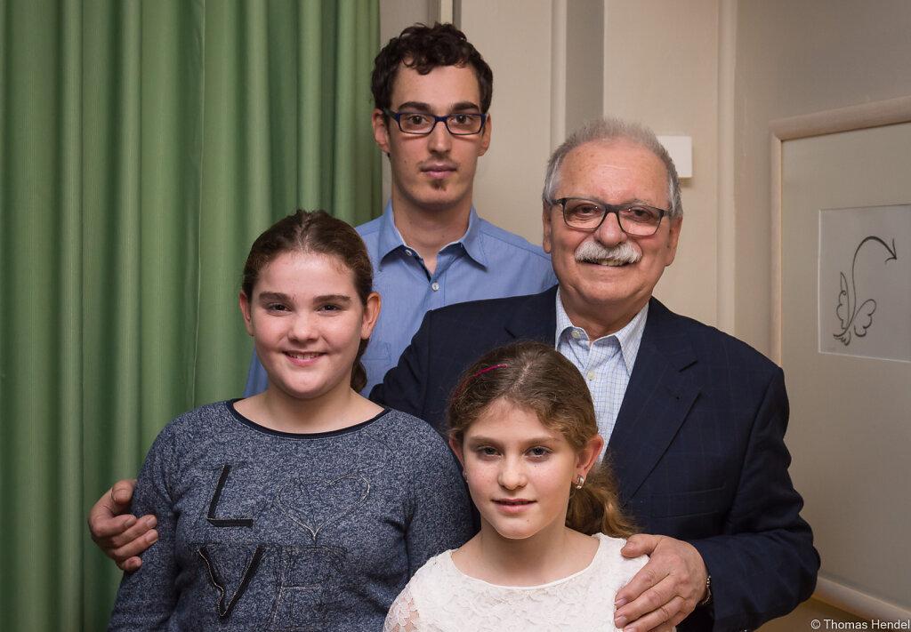 Mit den drei Enkeln